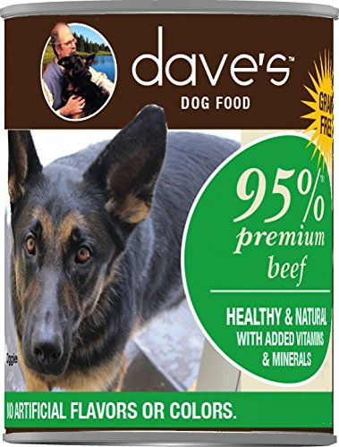 Dave's Premium Beef 95% Meat For Dogs, 13 oz Can (Case of 12)
