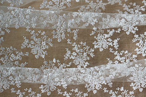 125Cm Width Black Fabric Shipping White Fabric DIY Pinkdose Wedding Dimensional Gauze Free Cotton Three Embroidery Dress Lace White TBxAqwpanR