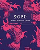 "Books : 2020 Weekly & Monthly Planner: Koi Pond 8""x10"" (20.32cm x 25.4cm) Jan 1, 2020 to Dec 31, 2020: Weekly & 12 Month Planner + Calendar View Notebook Schedule Organizer (Beautiful Calendar Books for 2020)"