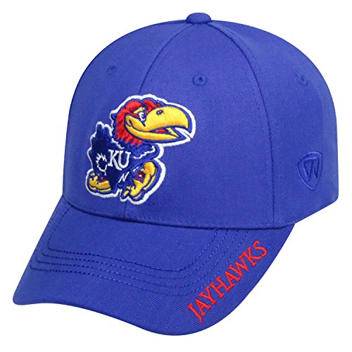 Top of the World NCAA-Premium Collection-One-Fit-Memory Fit-Hat Cap-Kansas ()