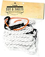 Sun & Sheets Superior Quality Compact Adjustable Travel Bungee Clothesline