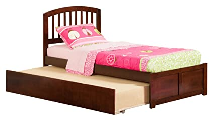 a23c3ddb4ee22 Atlantic Furniture Richmond Flat Panel Foot Board with Urban Trundle Bed