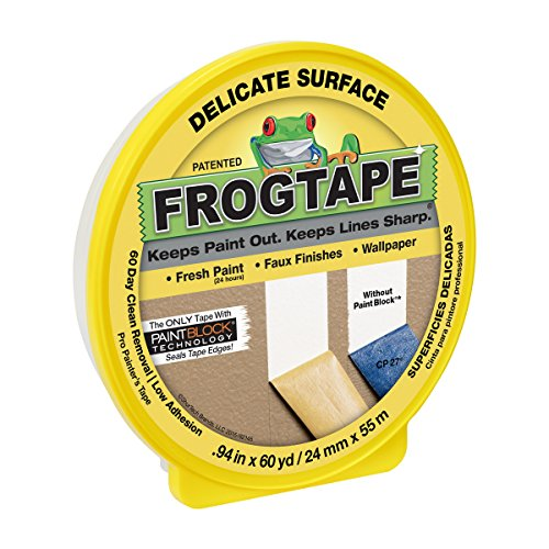 - Duck 280220 Delicate Surface Painter's Tape.94 inch Width, Yellow