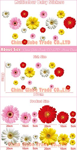 money-coming-shop-2-set-removable-pvc-decals-4-colors-diy-daisy-decorative-flowers-wall-stickers-for