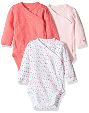 3 Pack Side Snap Bodysuits (Baby)