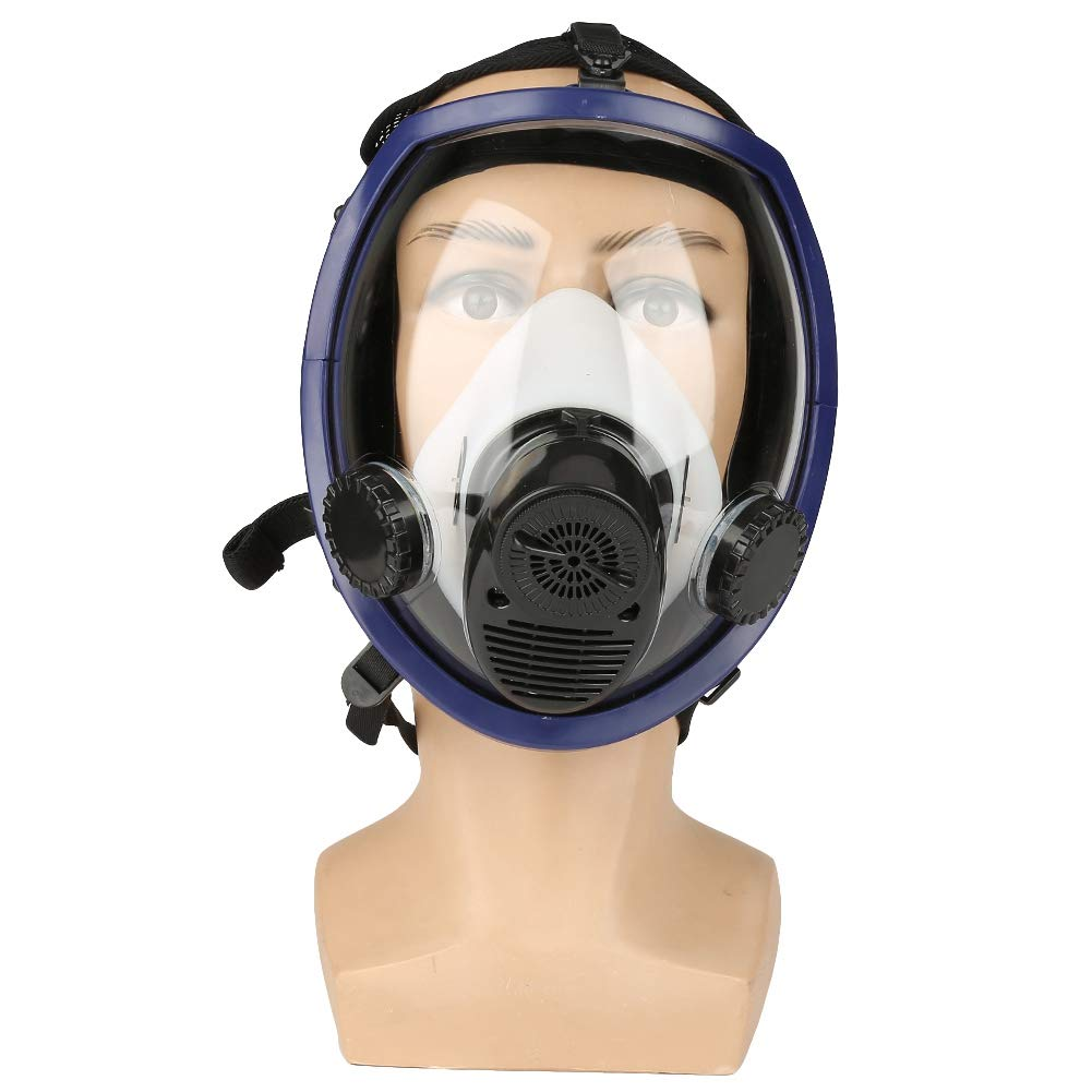 Three-in-One Function Air Fed Supplied Gas Mask System Full Face Airline Respirator for Paint Spraying Welding,Breathe Easily, Don't Need Cartridge, Mask Included Don' t Need Cartridge Wal front
