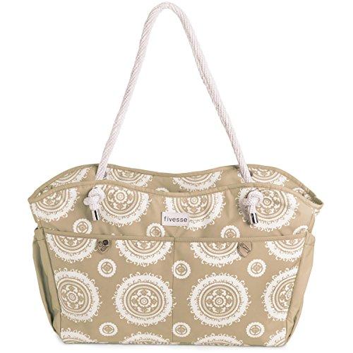 fivesse-water-resistant-beach-bag-sun-pattern-custom-designed-protective-pockets