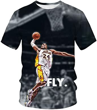 Camiseta De Hombre con Estampado 3D De Kobe Camiseta De Hip Hop Streetwear, Jugador De Baloncesto Camiseta Casual De Camiseta 3D Kobe Bryant: Amazon.es: Ropa y accesorios
