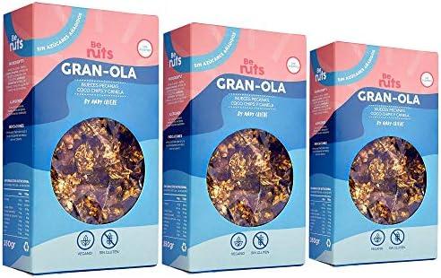 Be Nuts: Gran-Ola | Edición Especial | Avena Sin Gluten | Gluten Free | Cereal free | Vegan | Sugar Free | Granola 350gr x 3