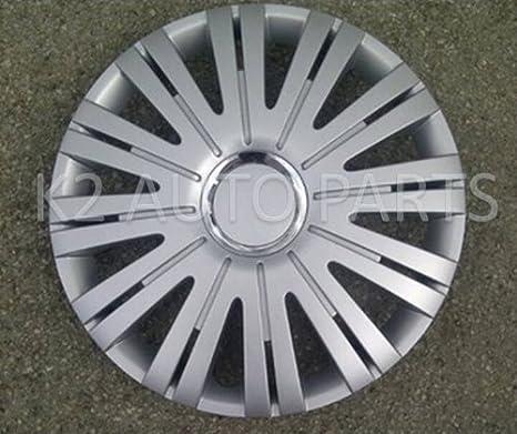 UKB4C 4 x 16 Silver Black Van Trim//Hub Caps Deep Dish Alloy Look fits Vauxhall Vivaro