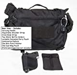 Messenger Bag with Concealed Carry Pistol Pouch by