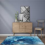Machine-Washable Large Bathroom Mat abstract colour backdrop wallpaper on white background Weather-Proof and Mold 22''x60''