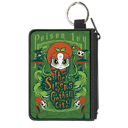 Buckle-Down Unisex-Adult's Zip Wallet Poison Ivy Small, Multicolor, 6.5