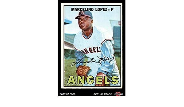 Verzamelkaarten: sport 1967 Topps #513 Marcelino Lopez Los Angeles Angels Baseball Card Verzamelingen