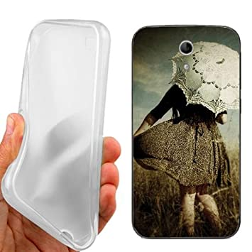CUSTODIA COVER CASE VINTAGE GIRL PER VODAFONE SMART 4 TURBO