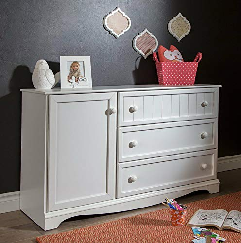 - Hebel Savannah 3 Drawer Dresser with Door | Model DRSSR - 79 |