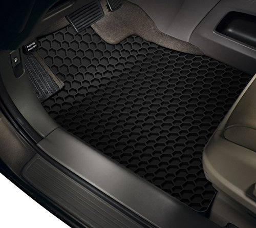 TOUGHPRO Floor Mat Accessories Set (Front Row + 2nd Row) Compatible with Tesla Model S - All Weather - Heavy Duty - (Made in USA) - Black Rubber - 2016, 2017, 2018, 2019, 2020