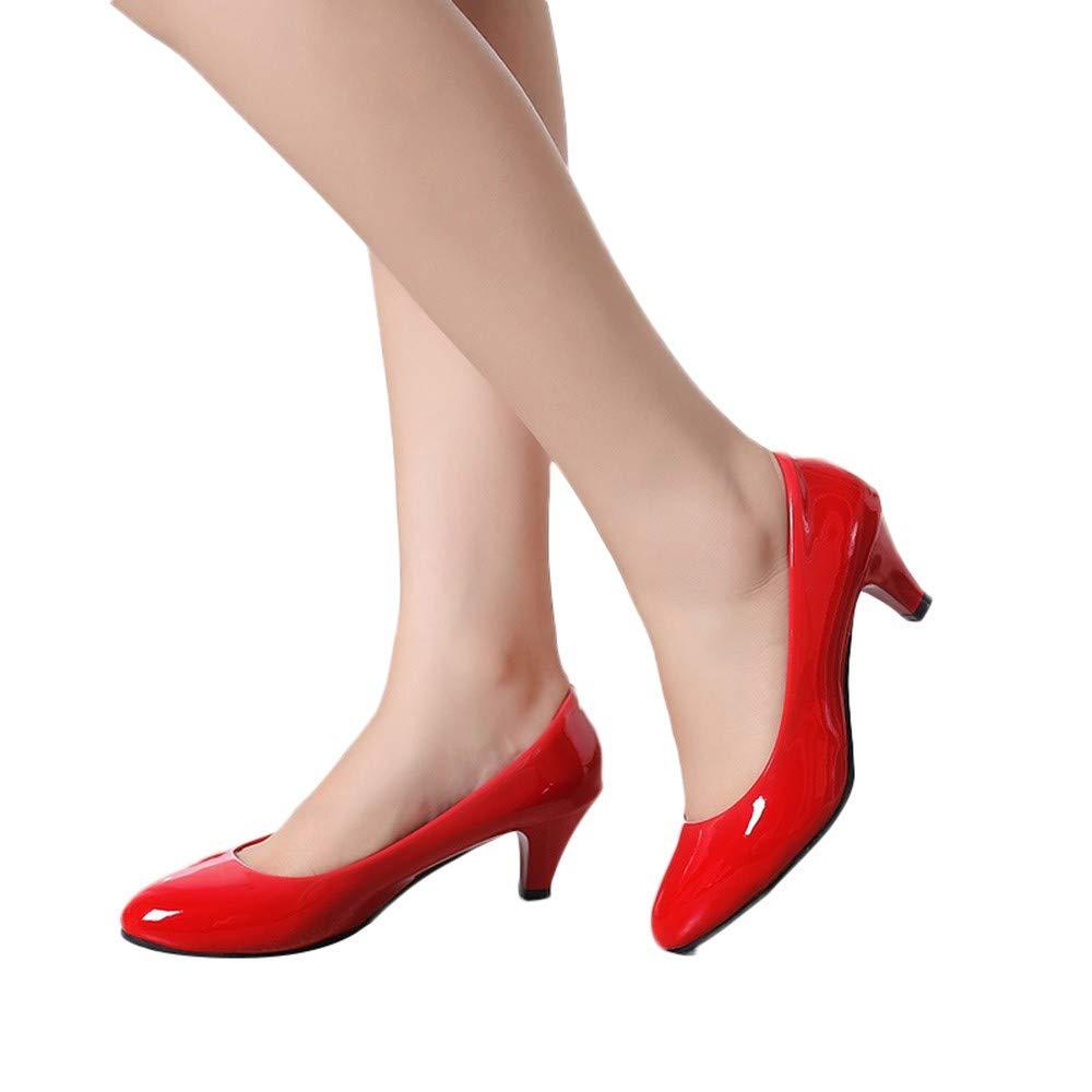 Patentes de Piel Poco Profunda Calzado Puntiagudo de Negocios LILICAT® Calzado de Boca Baja Puntiagudos Zapatos de Trabajo Zapatos para pies Zapatos de ...