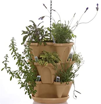 Amazon Com Tuscany Color 3 Tier Stacking Planter Vertical