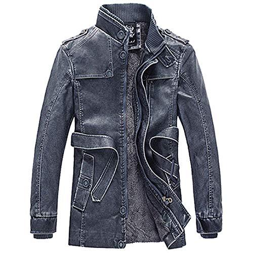 Automne Au Jackets Veste En Chaud Slim Cuir Garder Hommes Vêtements Winjin Bleu Blouson Manche Manteau Longue Hiver Mode USPqz