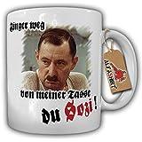 Alfred Tetzlaff Finger WEG-Finger weg von meiner Tasse du Sozi! Alfred Tetzlaff Herz Seele Kult Ruhrpott Fernsehserie - Tasse Becher Kaffee #7547