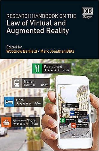 Research Handbook on the Law of Virtual and Augmented Reality – книга о правовом поле в использовании иммерсивных технологий.