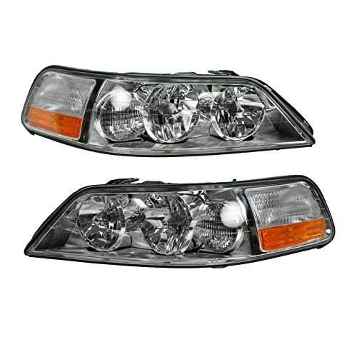 Headlights Headlamps Left & Right Pair Set for 05-11 Lincoln Town Car