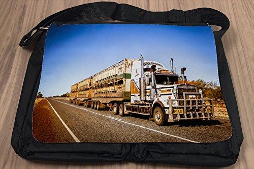 Borsa Tracolla Nostalgico Retrò Auto Treno strada Australia Stampato
