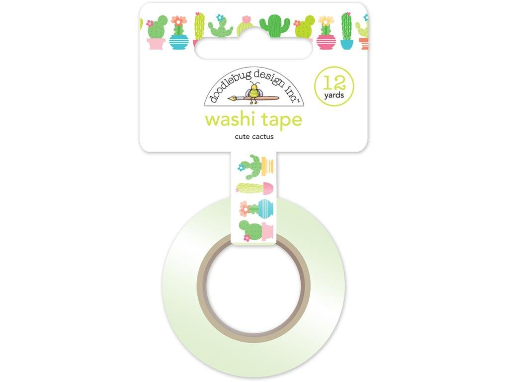Doodlebug DOO5215 FS Washi Tape Cute Cactus Washi Tape Doodlebug Design Inc