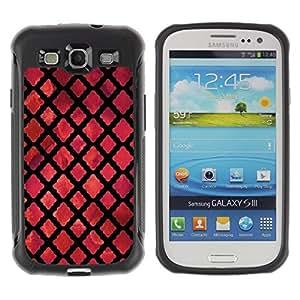 Suave TPU Caso Carcasa de Caucho Funda para Samsung Galaxy S3 I9300 / God Church Dark Red Black / STRONG