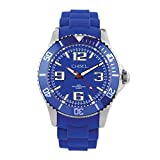 Chisel 44mm Blue Silicone Strap Mens Watch