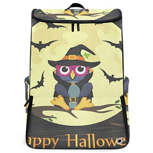 Halloween Owl In Witch Costume Travel Backpack 17 Inch Laptop Duffel with Shoes Compartment for Men Women