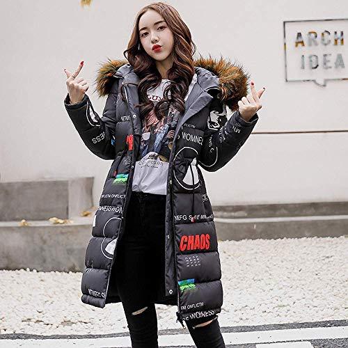 coloré Manteaux Épais D'hiver Avec Capuche Longs Duvet Manteau À Noir Pour Gris Xl Femmes Chaud Oudan Parka En Taille Cordon gAqw17ZOx