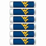 $2.00 OFF West Virginia Mountaineers Smooth Mint Lip Balm 6-PACK with SPF 15, Beeswax, Coconut Oil, Aloe Vera. NCAA Gifts for Men and Women on Mother's Day, Father's Day, Stocking Stuffers.