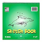 Bulk Kids Sketch Book, 9''x9'', 40 Sheets: Roaring Spring 52509 (12 Sketch Pads)