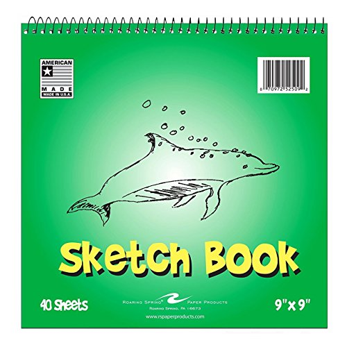 Bulk Kids Sketch Book, 9''x9'', 40 Sheets: Roaring Spring 52509 (12 Sketch Pads) by Roaring Spring