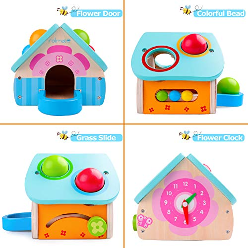 Unique Design for Pounding Bench Wooden Toys Montessori Toys for Toddlers Wood Toys Toddler Toys Pounding Wooden Toy House with Toy Hammer