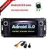 Cheap MCWAUTO for Dodge Ram Challenger Jeep Wrangler JK 6.2 Inch Android 8.0 Multi Touch Screen Car Stereo Radio DVD Player GPS Canbus Screen Mirroring Function OBD2 Octa-Core 64Bit 4G RAM 32GB ROM with r