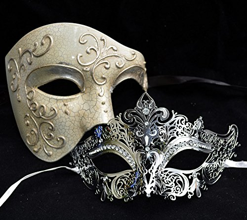 Silve (His And Hers Masquerade Ball Masks)