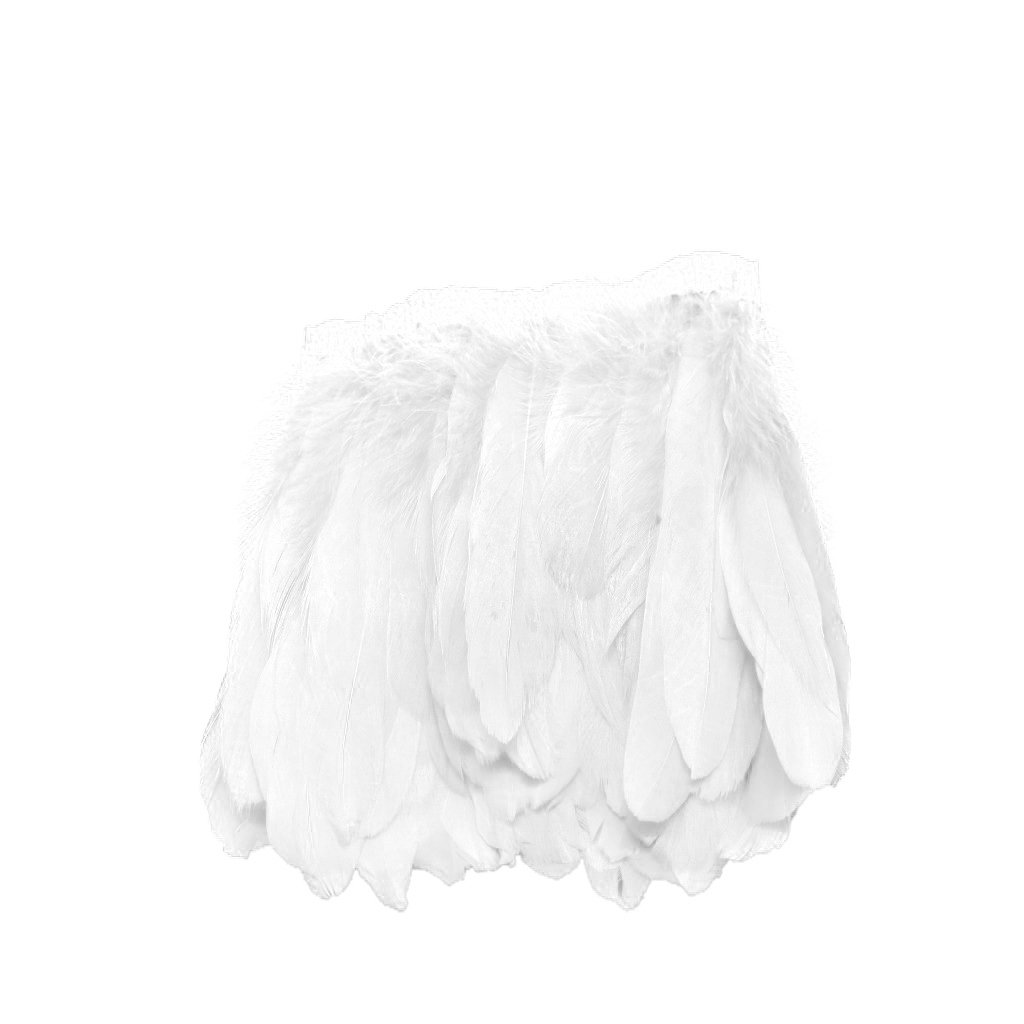 Beautiful Natural Goose Feather Fringe Sewing Trim for DIY Crafts Stage Costumes Clothes Wedding Decoration - White MagiDeal STK0155006038