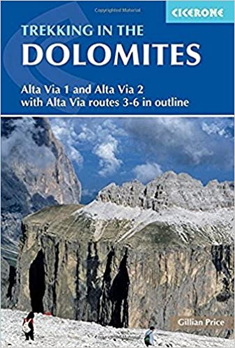 Alta Via 1 And Alta Via 2 With Alta Via Routes 3-6 In Outline Trekking in the Dolomites