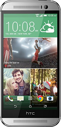 (HTC One M8 32GB Verizon + GSM 4G LTE Dual-Speaker Smartphone w/Android OS - Glacial Silver)