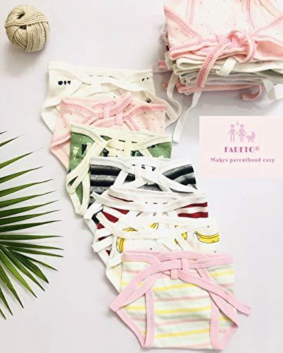 Fareto® Born Baby 12 Single Layer | Super Soft | Cotton Nappies | Washable | Reusable (0-3 Months)