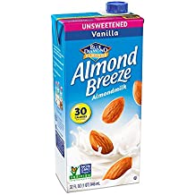 Almond Breeze Dairy Free Almondmilk, Unsweetened Vanilla, 32-Ounce Boxes (Pack of 12)