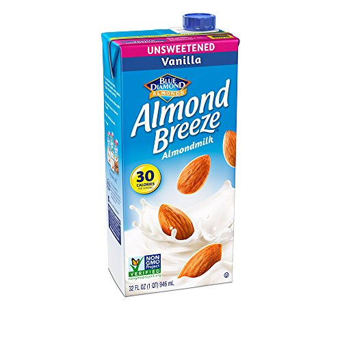 Almond Breeze Dairy Free Almondmilk, Unsweetened Vanilla, 32-Ounce Boxes (Pack of 12) (Light Milk Almond)