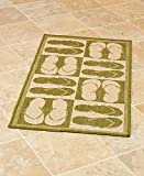 The Lakeside Collection Themed 22x43'' Indoor/Outdoor Accent Rug - Flip Flops