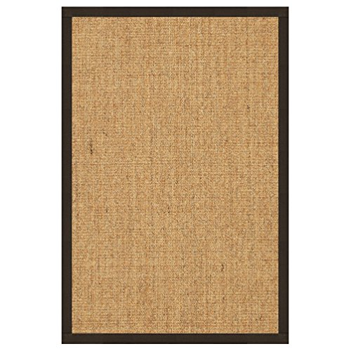 NaturalAreaRugs Melrose Collection Sisal Area Rug, Handmade in USA, 100% Sisal, Non-Slip Latex Backing, Durable, Stain Resistant, Eco/Environment-Friendly, (8 Feet x 10 Feet) Fudge Border by NaturalAreaRugs