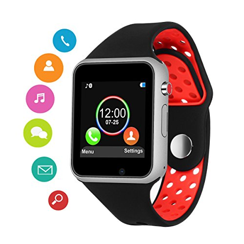 Smart Watches for Android Phones,SUNETLINK Anti-Lost Touch Screen Bluetooth Smart Watch with Camera,Sweatproof Smart Wrist Watch with Sim Card Slot, for Samsung Huawei Sony iOS Men Women Kids by SUNETLINK