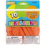 "Latex Balloons, 12"", Pumpkin Orange, 10 Count"