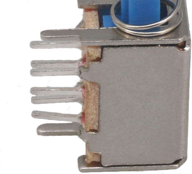 20 Pieces PS-22E05 6 Pin Self-locking Push Button Switch with Caps Blue